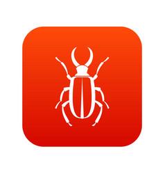 Lucanus cervus icon digital red vector