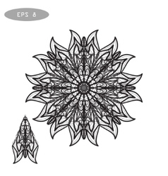 Mandala Coloring for coloring vector