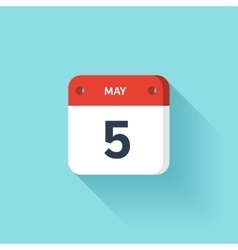 May 5 Isometric Calendar Icon With Shadow vector