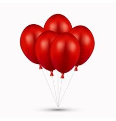 Modern red balloons on white vector