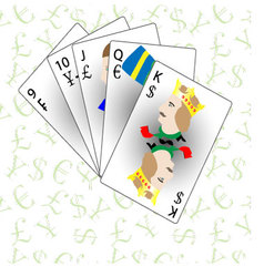 Monetary and Financial poker straight vector
