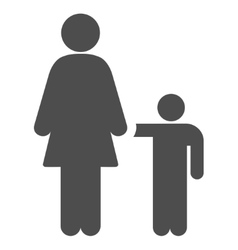 Mother child flat icon vector