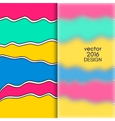 Multicolor Design Templates vector image