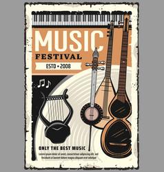 Music festival live folk performance vector