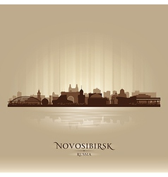 Novosibirsk Russia skyline city silhouette vector image