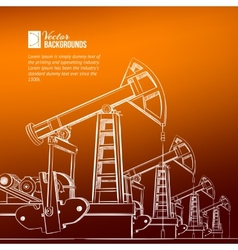 Oil pump plant vector image