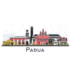 padua italy city skyline with color buildings vector image