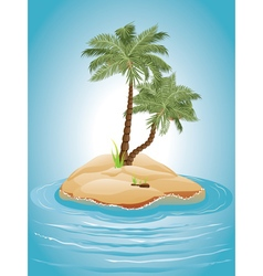 Palm Tree on Island3 vector