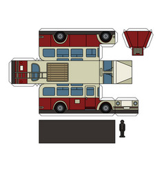 Paper model of an old bus vector