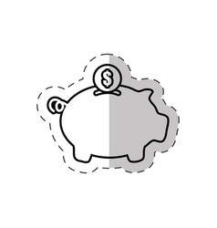 piggy money saving bank vector image