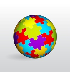 Puzzle sphere vector image