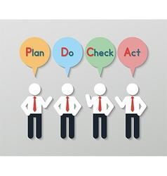 Quality management business concept vector