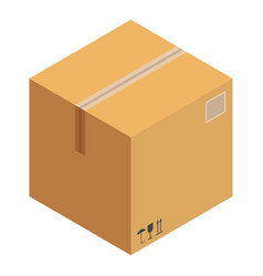 Received box icon isometric style vector