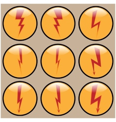 Round Icons lightning vector image