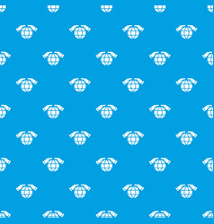Safe planet pattern seamless blue vector