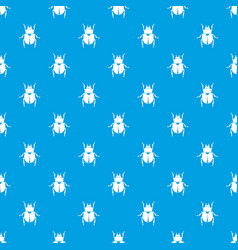scarab pattern seamless blue vector image
