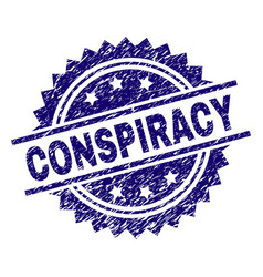 Scratched textured conspiracy stamp seal vector