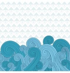 Sea waves on sea vector