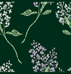 seamless background of lilac twigs vector image