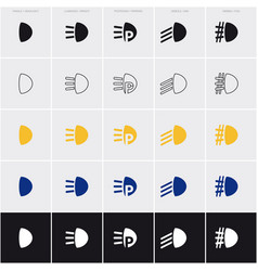 set of five symbols vector image
