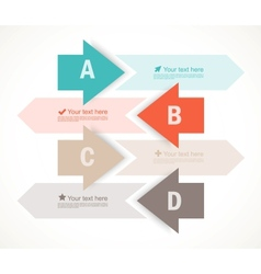 Set of four banners with arrows vector image vector image