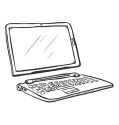 Single sketch transformer laptop tablet and vector