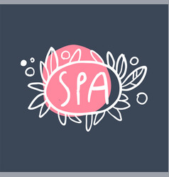 Spa logo template emblem for wellness yoga vector