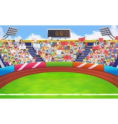 Stadium sports arena background vector