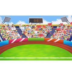 Stadium sports arena background vector image