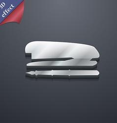 Stapler and pen icon symbol 3D style Trendy modern vector