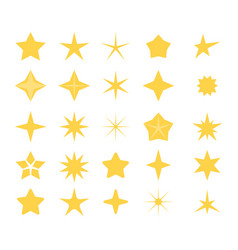 stars icons a set of stars of different shapes vector image