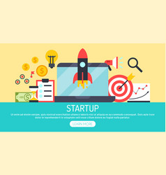 startup project strategy set banners vector image