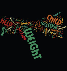 teen weight loss text background word cloud vector image