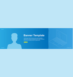 template banner design for web site with avatar vector image