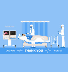 Thank you doctors and nurses working in the vector