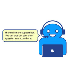 the of online chatbot vector image