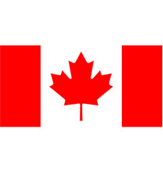 the official flag of canada vector image
