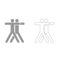 two people embracing it is icon vector image