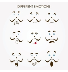 Various emotions icon vector image