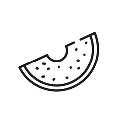 Vegetables and fruits concept potato slice icon vector