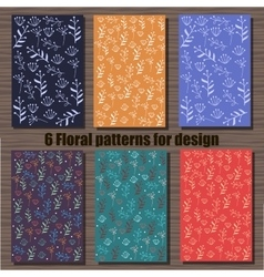 Very high quality original set of six floral vector