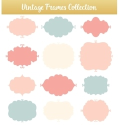Vintage frames on white background vector image