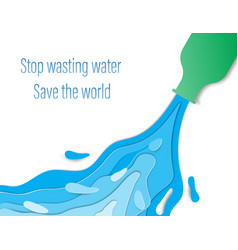 Wasteful water consumption reduction concept vector