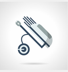 wheel golf caddy flat color icon vector image