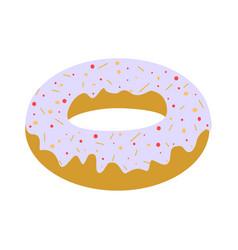 white donut vector image