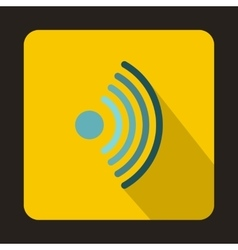Wireless network symbol icon flat style vector image