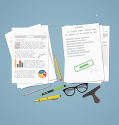 Documents pile concept vector image vector image