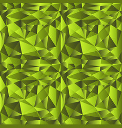 green gradient low poly background vector image