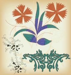 ornamental flower vector image vector image