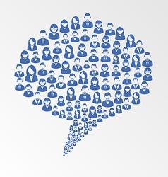 Social media user speech bubble vector image